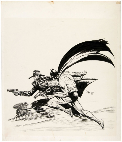 The Shadow and Batman by Michael Kaluta