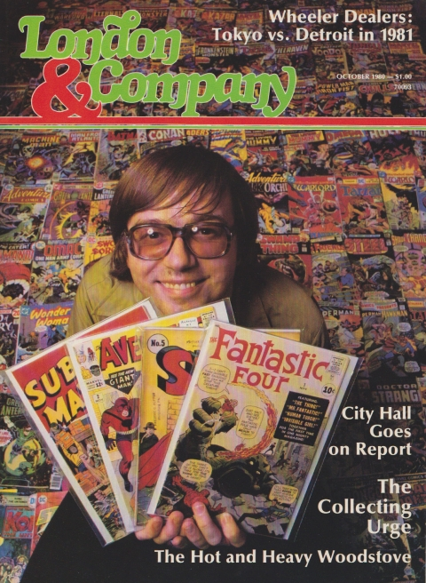 Eddy on the cover of a local magazine in 1980