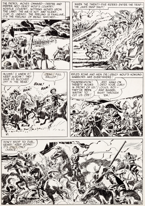 Boys' Ranch issue 4 page 2 by Jack Kirby and Mort Meskin.  Source.