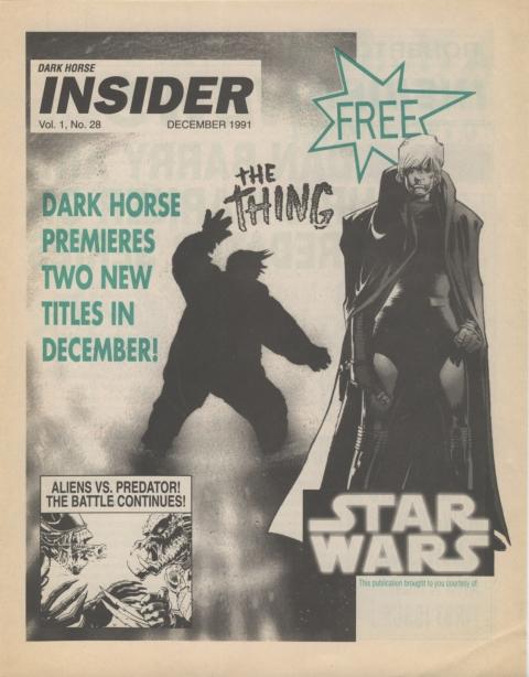 Dark Horse Insider December 1991 page 1