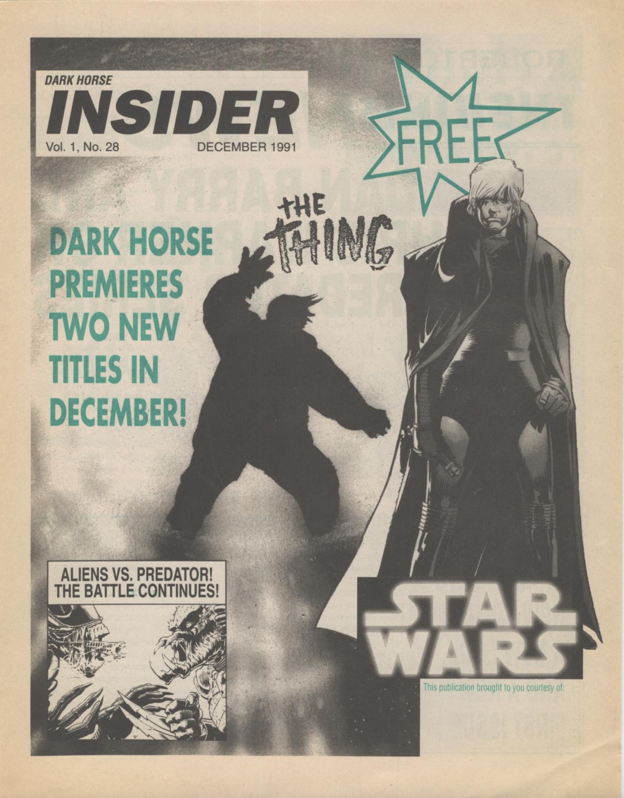 Time Capsule: Dark Horse Insider December 1991