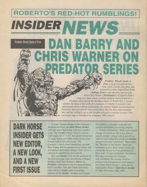 Dark Horse Insider December 1991 page 2