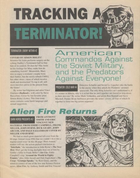 Dark Horse Insider December 1991 page 6