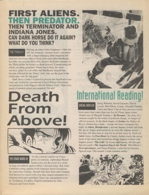 Dark Horse Insider December 1991 page 7