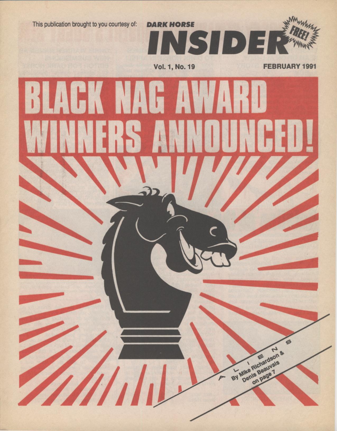 Time Capsule: Dark Horse Insider February 1991