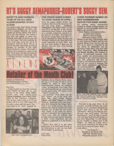 Dark Horse Insider February 1991 Page 2
