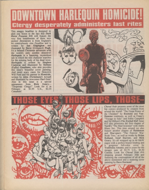 Dark Horse Insider February 1991 Page 3