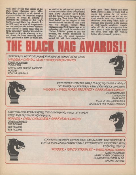 Dark Horse Insider February 1991 Page 4