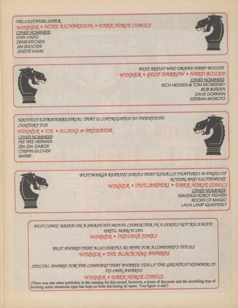 Dark Horse Insider February 1991 Page 5