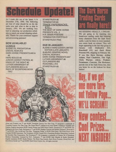 Dark Horse Insider February 1991 Page 8