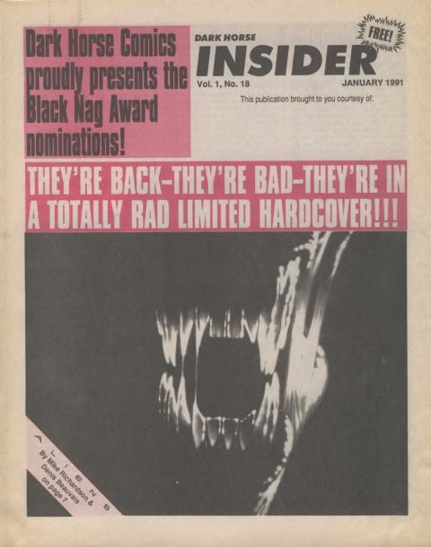 Dark Horse Insider January 1991 Page 1