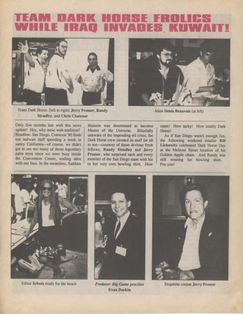 Dark Horse Insider January 1991 Page 4