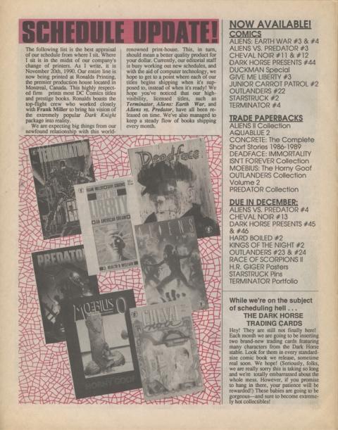 Dark Horse Insider January 1991 Page 6