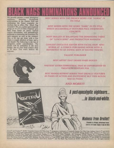Dark Horse Insider January 1991 Page 8