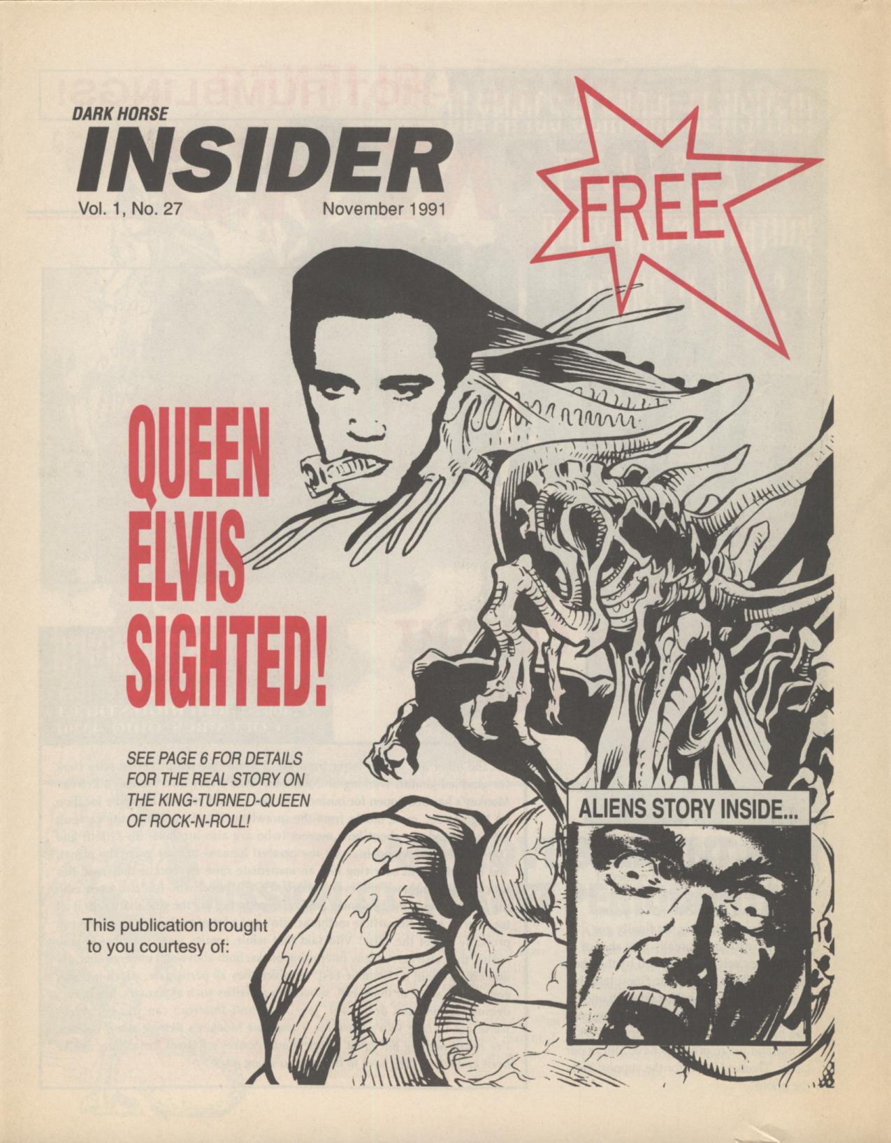 Time Capsule: Dark Horse Insider November 1991