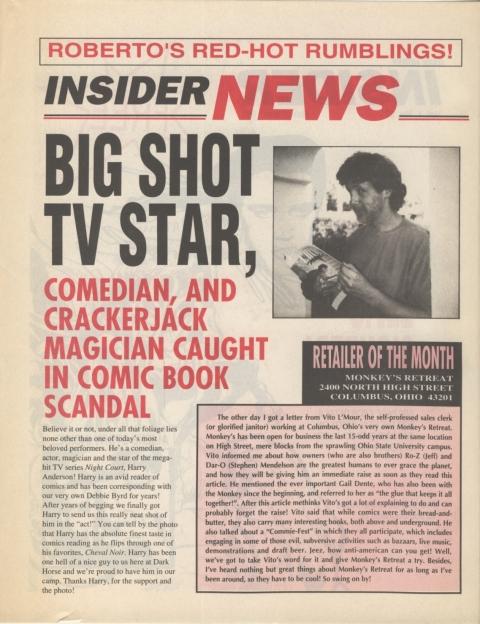 Dark Horse Insider November 1991 page 2