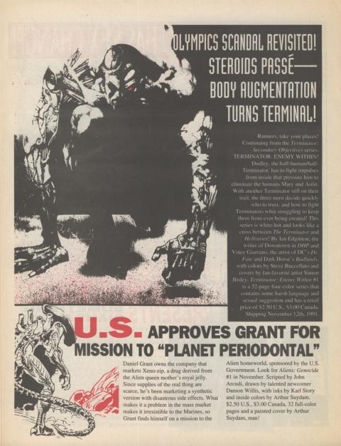 Dark Horse Insider November 1991 page 3