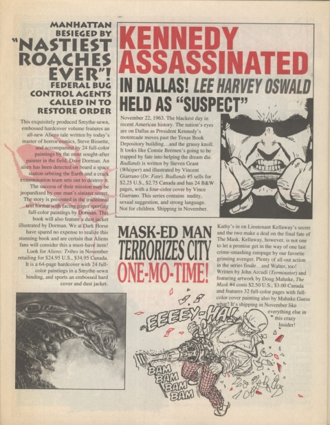 Dark Horse Insider November 1991 page 6