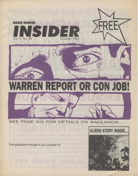 Dark Horse Insider October 1991 page 1
