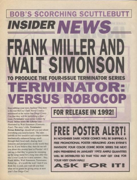 Dark Horse Insider October 1991 page 2