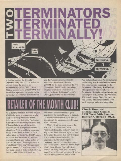 Dark Horse Insider October 1991 page 3