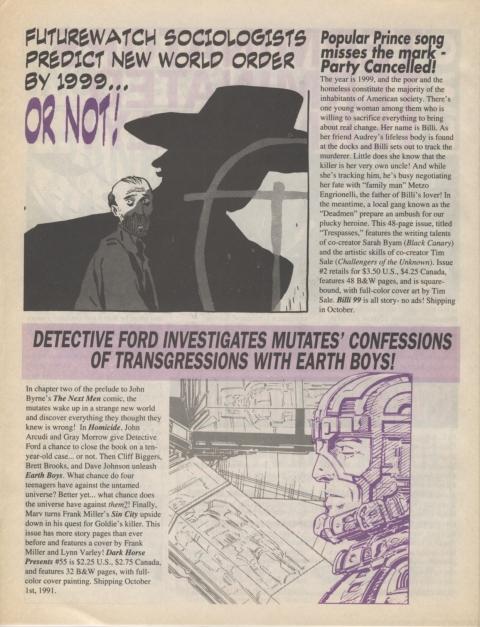 Dark Horse Insider October 1991 page 4