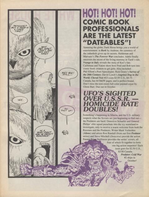 Dark Horse Insider October 1991 page 5
