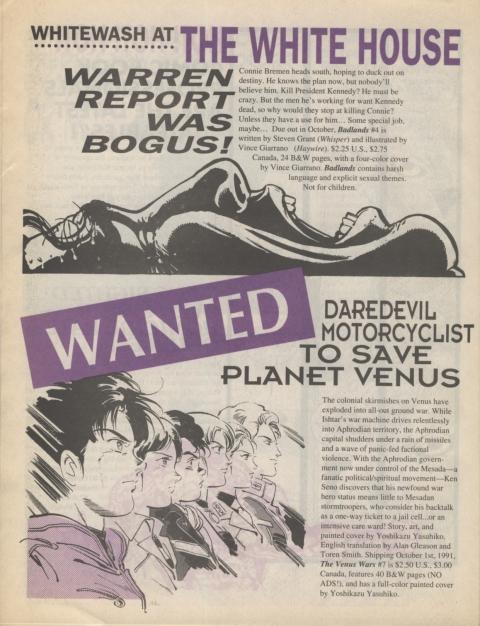 Dark Horse Insider October 1991 page 6