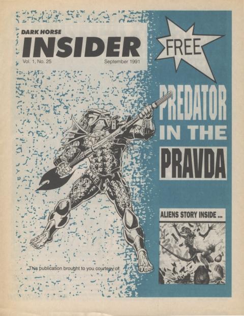 Dark Horse Insider September 1991 Page 1