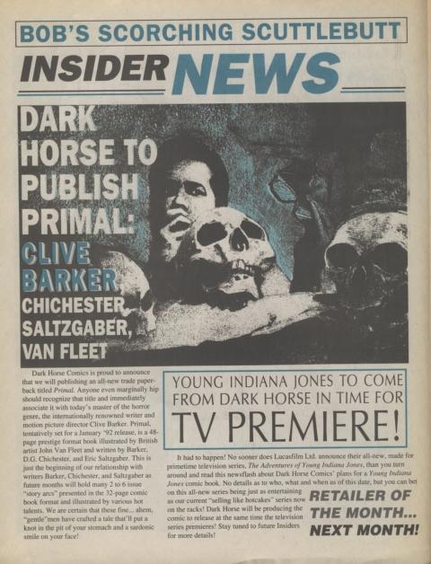 Dark Horse Insider September 1991 Page 2