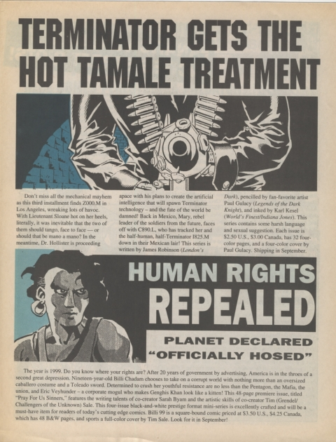 Dark Horse Insider September 1991 Page 3