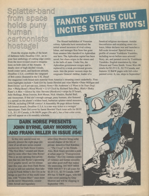 Dark Horse Insider September 1991 Page 4