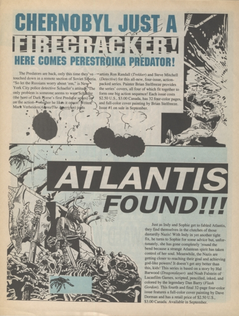 Dark Horse Insider September 1991 Page 5