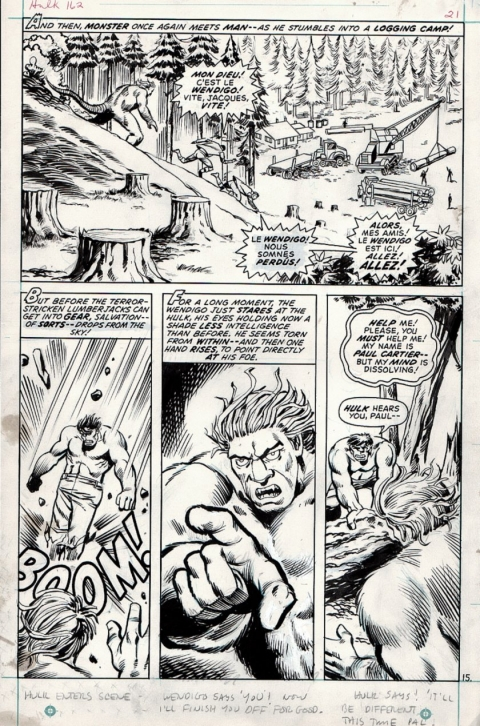 Incredible Hulk issue 162 page 15 by Herb Trimpe and Sal Trapini. Source.