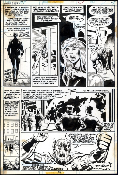 Incredible Hulk issue 178 page 15 by Herb Trimpe and Jack Abel. Source.