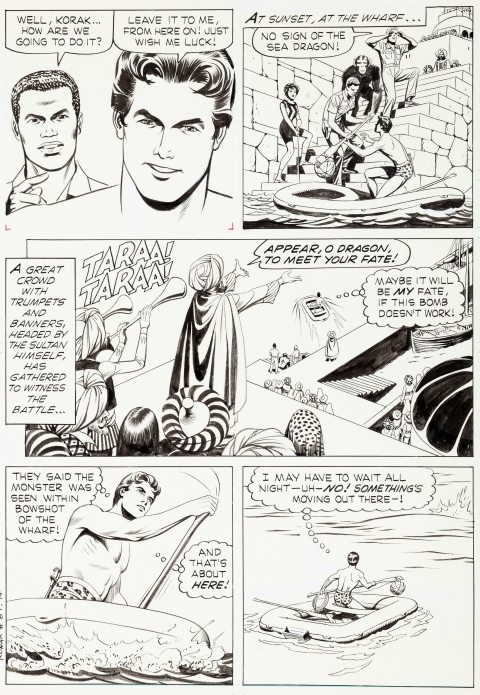 Korak Son Of Tarzan issue 8 page 14 by Russ Manning.  Source.
