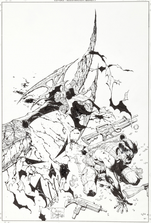 Marvel Knights issue 6 cover by Joe Quesada and Dan Miki.  Source.