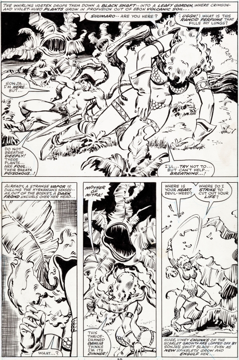 Red Sonja issue 12 page 10 by John Buscema and Joe Rubinstein.  Source.