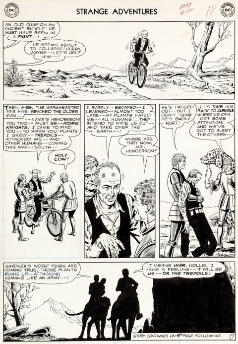Strange Adventures issue 150 page 7 by Murphy Anderson.  Source.