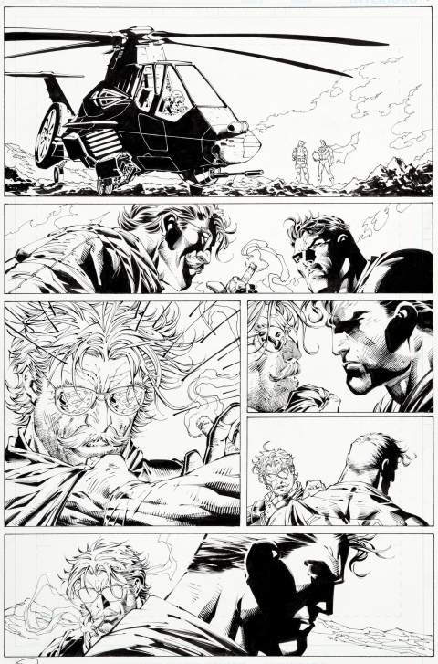 Superman issue 208 page 6 by Jim Lee and Scott Williams.  Source.