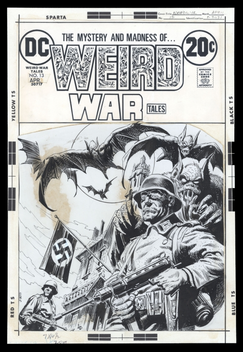 Weird War Tales issue 13 cover by Luis Dominguez