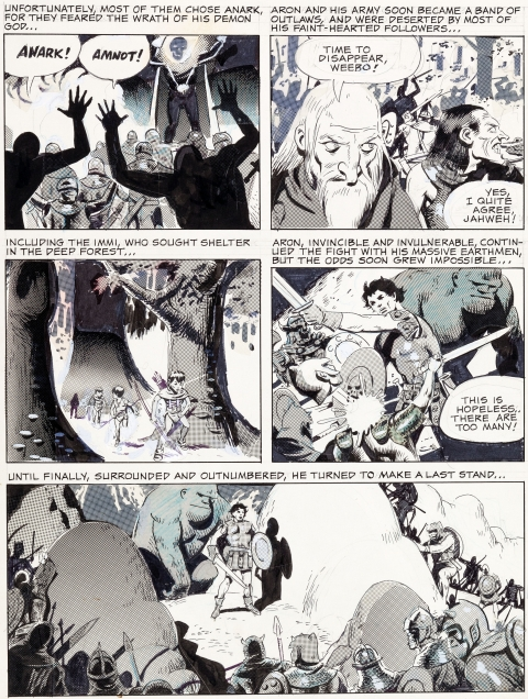 Wizard King Trilogy Vol 2 page 3 by Wally Wood.  Source.