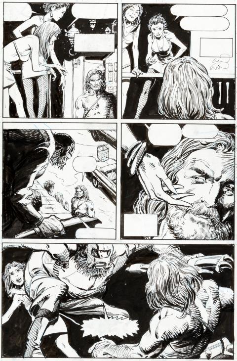 X-O Manowar issue 1 page 14 by Barry Windsor-Smith and Bob Wiacek.  Source.