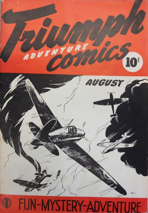 One of the two copies of Triumph-Adventure No. 1 at the Library and Archives of Canada