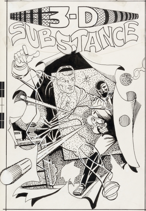 3-D Substance issue 1 cover by Steve Ditko. Source.