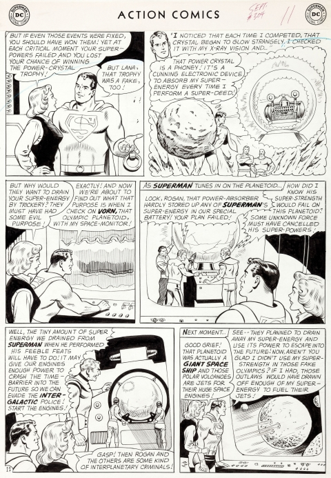 Action Comics issue 304 page 11 by Curt Swan and George Klein.  Source.