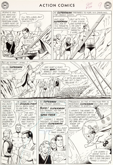Action Comics issue 304 page 9 by Curt Swan and George Klein. Source.