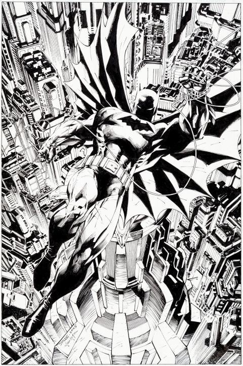 All-Star Batman and Robin, The Boy Wonder issue 1 cover by Jim Lee and Scott Williams.  Source.