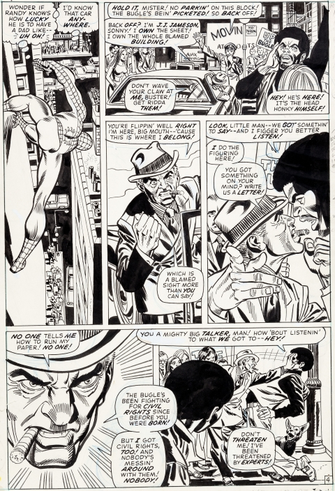 Amazing Spider-Man issue 104 page 4 by Gil Kane and Frank Giacoia.  Source.