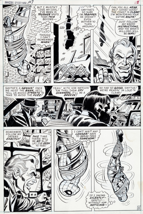 Amazing Spider-Man issue 107 page 8 by John Romita and Frank Giacoia.  Source.